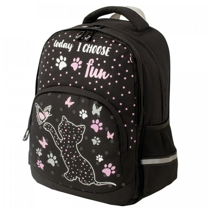 Купить Школьные рюкзаки, Brauberg Soft Рюкзак Joyful kitten светящийся