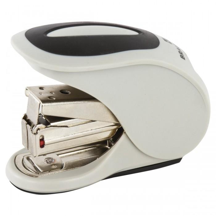 Канцелярия Brauberg Степлер Easy Press энергосберегающий №24/6, 26/6 степлер ручной brauberg энергосберегающий мощный 24 6 23 17 easy press до 120 листов без усилий 227664