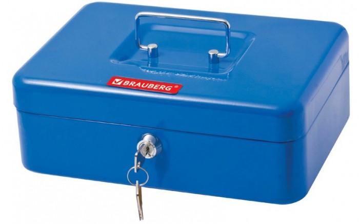 Сейфы Brauberg Ящик для ценностей 3 отделения 90х180х250 мм ящик для ценностей brauberg 90х240х300 мм ключевой замок серебристый 291060