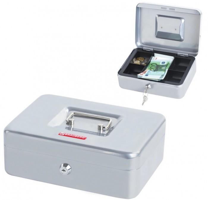 Сейфы Brauberg Ящик для ценностей 5 отделений 90х180х250 мм ящик для ценностей brauberg 90х240х300 мм ключевой замок серебристый 291060