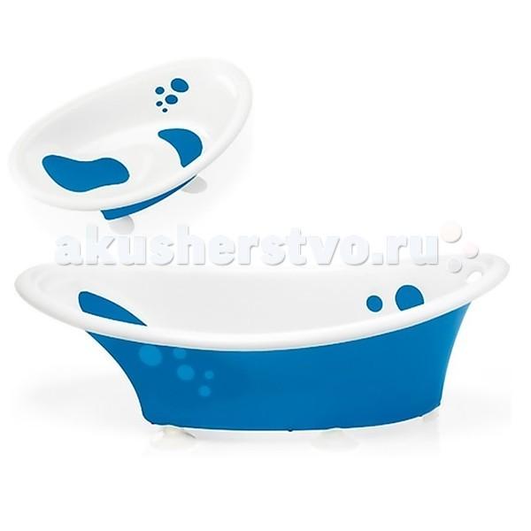 Brevi Ванночка для купания BubbleВанночка для купания BubbleВанночка Brevi Bubble с индикатором температуры воды и красивыми пузырьками сделает купание Вашего малыша комфортным и веселым. Приятные особенности Brevi Bubble: новая ванночка Bubble Brevi особенно привлекательна из-за своих пузыриков, украшающих внешнюю и внутреннююю стороны. Ванночка очень удобна для малыша, так как вода в ней сохраняет свою температуру надолго.  Особенности: соответствует нормам EN12221 предназначена для детей с рождения удобная и лёгкая ванночка, анатомической формы снабжена четырьмя ножками, сделанными из нескользящей резины для большей безопасности внешнюю и внутреннюю стороны украшают веселые пузырики в цвет ванной нескользящие мягкие резиновые вставки эргономичное место для детей от 0 до 6 месяцев оборудована с датчиком температуры оснащена пробкой для слива воды  Размеры (дхшхг): 92,7x52,7x31 см объем: 14 л Вес: 2,2 кг<br>