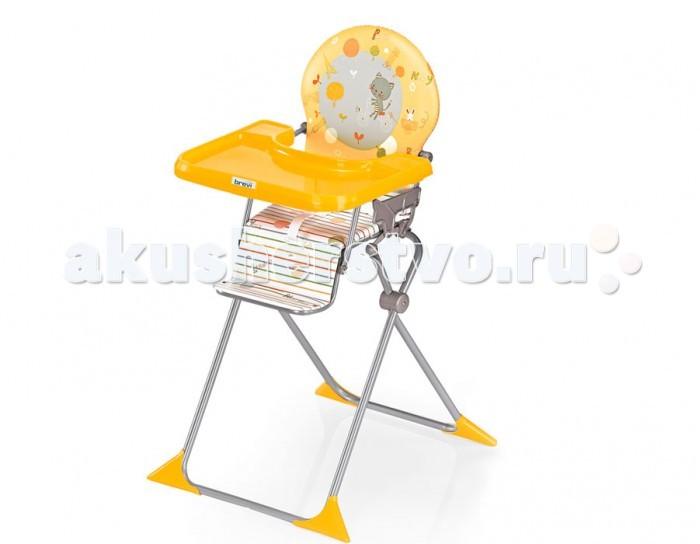 Стульчик для кормления Brevi JuniorJuniorСтульчик для кормления Brevi Junior   Стульчик Brevi Junior имеет очень простую конструкцию и особенно удобен для дачи или дома. В сложенном состоянии стульчик Junior занимает совсем мало места и может уместиться в багажнике автомобиля. Стульчик очень удобен, так как имеет мягкую спинку сиденья. Сделан из стали, что обеспечивает безопасность и устойчивость.  Особенности: соответствует нормам EN 14988 возрастная группа: от 6 месяцев до 36 месяцев 3-точечные ремни безопасности и планка разделитель для ног большой поднос для еды можно снять и придвинуть стульчик к столу прочный стабильный каркас из стали двойная боковая защита и двойной защитный замок для предупреждения случайного раскладывания компактный, в сложенном виде легко помещается в багажник автомобиля  Аксессуары: поднос размером 58,50х50,50 см можно снять, чтобы пододвинуть стульчик к столу. Имеет 2 положения и легко регулируется, снабжен предохраняющим от соскальзывания механизмом  практичный универсальный матрасик - редуктор из махровой ткани, предназначен для более удобного использования стульчика для кормления подушка-редуктор, с удобным мягким сиденьем, для детей от 4 месяцев  Меры предосторожности: возрастная группа: с момента, когда ребёнок начинает сидеть самостоятельно (6 месяцев) и до 36 месяцев никогда не оставляйте ребёнка без внимания на высоком стульчике всегда пристёгивайте малыша с помощью ремней безопасности будьте особенно внимательны, когда сажаете ребёнка на стульчик и вынимаете его оттуда никогда не ставьте стульчик на скользкую или неровную поверхность когда стульчик сложен, ставьте его в недоступное для детей место Габариты: Размер в сложенном виде шхдхв: 60х33х72 см  Размер в собранном виде шхдхв: 60х67х105 см Вес: 5,7 кг<br>