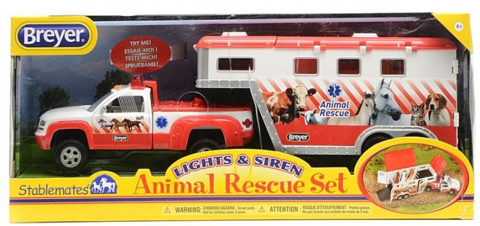 Breyer Пикап и трейлер для трех лошадей Спасение животных  (5352)