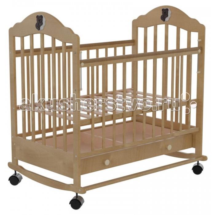 Детская кроватка Briciola 7 колесо-качалка автостенка с ящиком7 колесо-качалка автостенка с ящикомДетская кроватка Briciola-7 колесо-качалка автостенка с ящиком будет красиво и гармонично смотреться при любой направленности дизайна интерьера. Помимо эстетических характеристик, модуль отличается практичностью и функциональным совершенством.  Особенности: Размеры ложа: 120 х 60 см Кроватка изготовлена из массива березы – это натуральный экологически чистый материал Раскачивание кроватки воспроизводится при помощи поперечного маятника, также имеются специальные фиксаторы, которые блокируют кровать в ровном положении Боковая стенка легко снимается, обеспечивая быстрый доступ к ребенку Боковая оградка также опускается по высоте  Имеется накладка ПВХ Ложе регулируется в двух уровнях по высоте Боковые стенки представлены ламелями, которые расположены друг от друга на достаточном расстоянии, чтобы между ними не застревали ручки и ножки малыша. Кроме того, ламели обеспечивают постоянный приток свежего воздуха к малышу, а также позволяют присматривать за ребенком В нижней части изделия располагается удобный выдвижной ящик с защитой от непреднамеренного выпадения Детская кроватка Briciola-7 – это надежность и комфорт по доступной стоимости Полное отсутствие острых деталей, которые могут нести потенциальную опасность для крохи<br>
