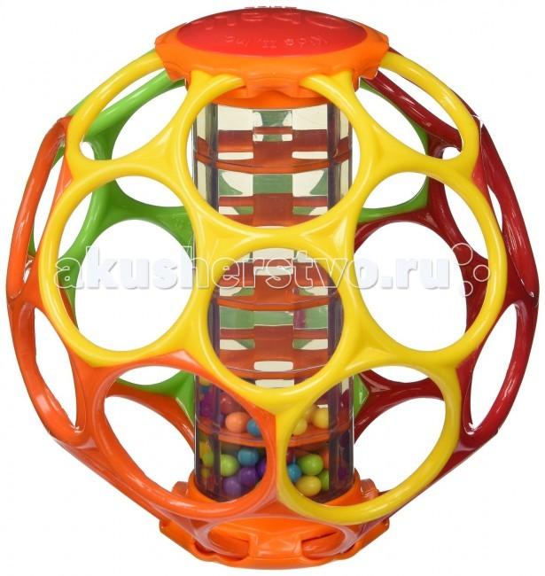 Развивающие игрушки Oball Мячик с погремушкой 81030 игрушка для животных каскад мячик зефирный мина цвет зеленый желтый диаметр 4 5 см