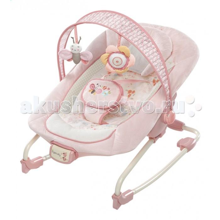 Bright Starts Кресло-качалка InGenuityКресло-качалка InGenuityBright Starts Кресло-качалка InGenuity  Особенности: Сиденье можно раскачиваться назад и вперед, чтобы успокоить малыша, или его можно зафиксировать в одном положении  Подходит для малышей и детей постарше  3-х позиционное сиденье колыбельного типа со съемной подушкой Успокаивающая вибрация,  7 мелодий,  регулировка громкости и автоматическое отключение через 15 минут  Съемная перекладина с 2-мя забавными мягкими игрушками   Дополнительные характеристики: 5-точечный ремень безопасности Сиденье можно стирать в стиральной машине Специальные «нескользкие» ножки 3 батарейки типа С (не входят в комплект) Размеры продукта: 86,5 х 71 х 61 см До 18 кг<br>