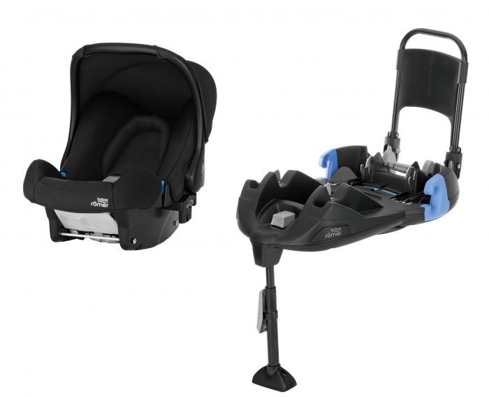 Автокресло Britax Roemer Baby-Safe + база ременнаяГруппа 0-0+ (от 0 до 13 кг)<br>Автокресло Britax Roemer Baby-Safe + база ременная  Автолюлька Baby-Safe обеспечивает одновременно удобство переноски и безопасность во время поездки. Продуманный дизайн позволяет сочетать эффективные технологии безопасности и максимальный уровень комфорта с легковесной конструкцией.  Особенности детского автокресла Britax Baby-Safe: Солнецезащитный капор.  Капор защищает ребенка от солнца (имеет солнцезащитный фактор UPF 50+) и ветра в автомобиле и коляске.  Мягкий подголовник. Мягкий подголовник удерживает голову ребенка в удобном положении. Встроенная подушка в области спины также обеспечивает естественное и эргономичное лежачее положение ребенка. По мере роста ребенка вы можете убрать подушку, тем самым предоставив ему дополнительное пространство.  5-точечный ремень безопасности.  5-точечный ремень— это самый лучший способ обеспечить безопасность ребенка в автокресле, поскольку он надежно фиксирует ребенка в корпусе автокресла. В случае столкновения ремень распределяет силу удара по 5 точкам: две на плечах, две на бедрах и одна в месте крепления между ног. Это помогает защитить ребенка при любом столкновении. Регулируемая ручка.  Если нужно положить ребенка в автолюльку, регулируемую ручку можно легко убрать назад. Чтобы разблокировать и отрегулировать ручку автолюльки, нажмите кнопки, расположенные по бокам ручки. Если автолюлька стоит на полу, лучше откидывать ручку назад, чтобы предотвратить раскачивание. Глубокие мягкие боковины.  Мягкие боковины служат защитным каркасом, который помогает поглотить силу бокового удара, снижая риск травмирования ребенка.  Быстросъемный чехол.  Чехол можно стирать в стиральной машине, он легко снимается, при этом не нужно отсоединять ремни безопасности. Установка лицом против направления движения С рождения - 13 месяцев (0 - 13 кг) Размеры (ВхШхГ): 57 х 44 х 65 см Вес изделия: 3.9 кг Установка: на базе или с ремнем безопасности  Особенности базы: 