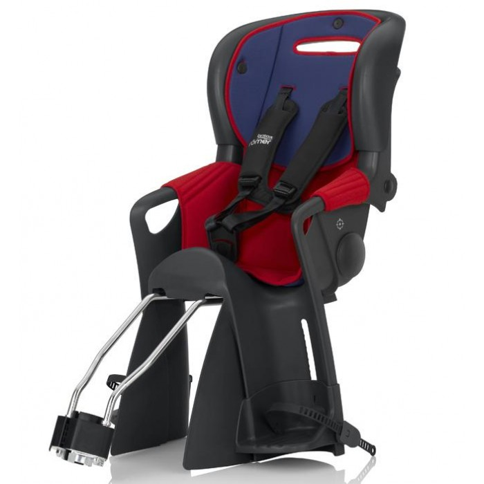 Britax Roemer Велокресло Jockey ComfortВелокресло Jockey ComfortДля того чтобы дети были хорошо защищены на велосипеде, Britax Roemer разработал специальное детское велокресло Jokey Comfort!  Необыкновенно удобные и практичные кресла. Они сведут к минимуму риск возникновения травм и дискомфорта при езде на велосипеде.  Ваш ребенок будет в восторге от такой поездки!   Предназначено для детей от 9 месяцев до 4 лет (от 9 до 22 кг)   Данное велокресло отвечает современным европейским стандартам DIN EN 14344 для T&#220;V / GS Test.  Кроме того, регулируемый подголовник можно перемещать вверх и вниз под рост ребенка.  Двусторонний стирающийся чехол изготовлен из специальной воздухопроницаемой ткани, улучшающей циркуляцию воздуха.   R&#214;MER JOCKEY подходит для туристических и спортивных моделей велосипедов с размером колес 26 и 28 с диаметром трубки 28-40 мм.  Велосипед должен иметь багажник шириной до 150 мм и круглую трубку сиденья.   Особенности: Большие накладки на спицы для защиты ног ребенка Регулировка высоты спинки - одной рукой Регулировка наклона спинки  Двусторонний чехол позволяет сменить цвет и снимается для стирки Может использоваться с багажником или без Прочная скоба из пружинной стали Удобная система ремней безопасности с замком для регулировки одной рукой Регулируемые подножки<br>