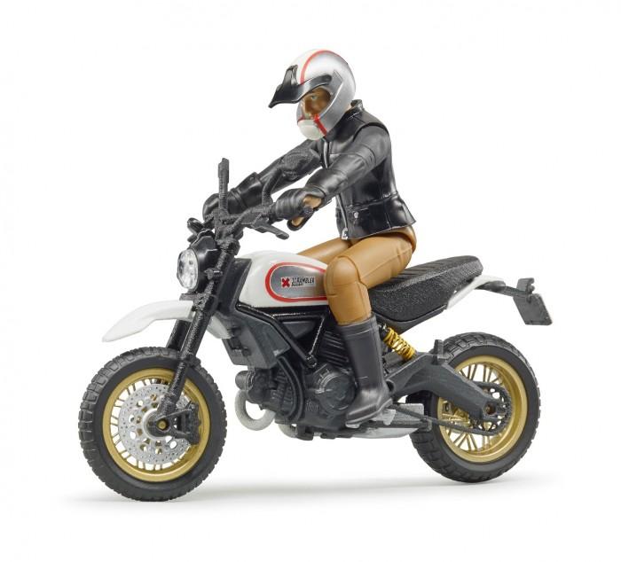 Машины Bruder Мотоцикл Scrambler Ducati с мотоциклистом