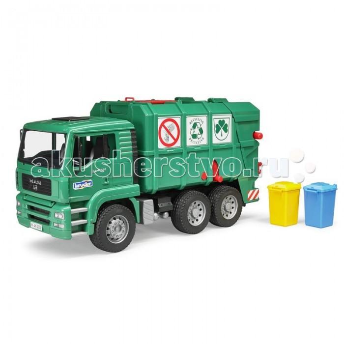 Машины Bruder Мусоровоз MAN TGA 02-753/02-760 машины bruder мусоровоз mack 02 812