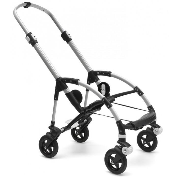 Bugaboo Bee5 base Шасси без сменного комплектаАксессуары для колясок<br>Прогулочная коляска Bugaboo Bee5 base Шасси без сменного комплекта предназначена для активных родителей, которые находятся в постоянном движении. С Bugaboo Bee5 вам откроется еще больше возможностей для путешествий с новорожденным или ребенком постарше.  Отличия шасси Bugaboo Bee5 от Bee3:   Дизайн шин  Новый механизм складывания: коляску можно сложить с сидением, установленным в любом положении (лицом к маме или наборот), это можно сделать за считанные 5 секунд, практически одной рукой  Угол наклона сидения  Корзина для покупок: оснащена дополнительным карманом  Новые интегрированные точки крепления для аксессуаров (ещё удобнее и проще использовать). Прогулочный блок:   Разворачиваемое сиденье: сиденье можно устанавливать как лицом к маме, так и вперед по ходу движения  Спинка сиденья, 5-точеные ремни безопасности и капюшон от солнца регулируются по высоте  Ручка регулируется по высоте и компактно складывается для хранения  Сиденье коляски можно раздвинуть, когда ребенок подрастет  Три положения спинки: малыш может сидеть прямо, опираясь на вертикально поднятую спинку сиденья; откинуться на полуопущенную спинку, когда устал; лежать во время сна  5-точечные ремни безопасности.  Шасси: 4 резиновых колеса на шинах с пенным наполнителем и независимыми подвесками Передние колеса поворотные (360#186;) с блокировкой  Дополнительная защита колесных соединений от пыли и грязи Диаметр колес 15 см  Удобная подножка  Ножной тормоз  Лазерная маркировка на раме Ручка из экокожи Новые интегрированные точки крепления аксессуаров (держателя для стаканчика, зонтика и подножки для второго ребенка), аксессуары крепятся на коляску без адаптеров, благодаря новым соединительным элементам. В комплекте:   Шасси с колёсами  Каркас сидения (без текстильного вкладыша)  Пятиточечные ремни с мягкими накладками  Дуги для капюшона      Дождевик  Руководство пользователя. Корзина для покупок в комплект не входит и приобретаетс