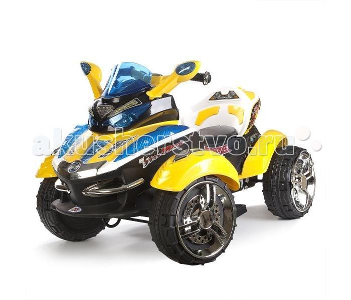 Электромобиль Bugati Квадроцикл HC-1058Квадроцикл HC-1058Электромобиль Bugati Квадроцикл HC-1058  Квадроцикл Bugati может стать первым средством передвижения малыша.   Он оснащается аккумулятором 12V, двумя моторами мощностью 30W, световым и звуковым модулями, дисплеем. Есть возможность подключения MP3 плеера для прослушивания музыки в поездке.   На все 4 колеса установлена мягкая резина, поэтому квадроцикл двигается бесшумно вперёд и назад, не царапает покрытие в доме.   Спереди по бокам есть две ручки и зеркала.   Для родителей прилагается пульт дистанционного управления, чтобы можно было контролировать машину на расстоянии.   Развивает максимальную скорость 3.5 км/ч, допустимый вес - 30 кг, предназначено для одного ребёнка.<br>