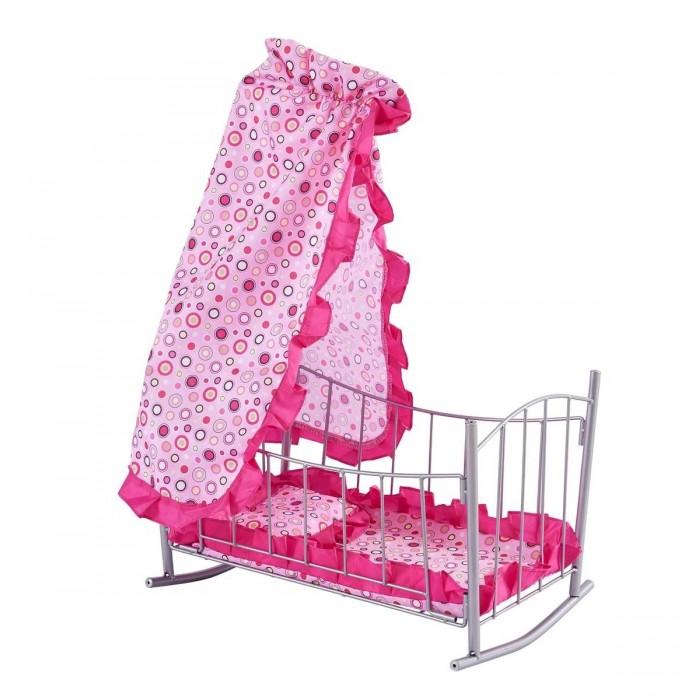 Кроватка для куклы Buggy Boom Loona качалка с балдахином