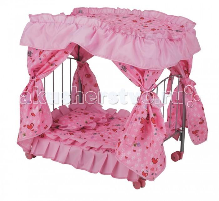 Кроватки для кукол Buggy Boom с балдахином на поворотных колесиках Loona 8891 игра buggy boom loona кроватка для кукол с балдахином 8895