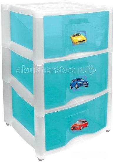 Бытпласт Комод для игрушек 3 ящика