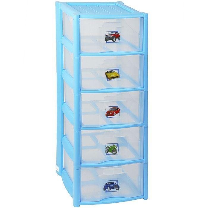 Бытпласт Комод для игрушек 5 ящиковКомод для игрушек 5 ящиковЕсли у ребенка накопилось много вещей для творчества, игрушек или развивающих игр, вы можете приобрести для них отдельное место для хранения.   Им сможет стать небольшой детский комод. Его высота достаточна для того, чтобы ваша кроха самостоятельно могла выполнить уборку своих вещей, поместив их в 5 глубоких ящика.   Дизайн комода полностью отвечает стилю детского назначения, а его неброские черты не нарушат гармонии и эстетики интерьера.  Длина 37 см Ширина 39 см Высота 97 см<br>