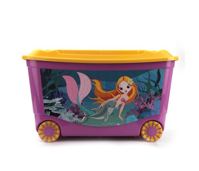 Ящики для игрушек Бытпласт Ящик для игрушек с аппликацией на колесах