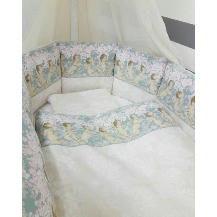 Картинка для Комплект в кроватку ByTwinz Ангелы для круглой (6 предметов)