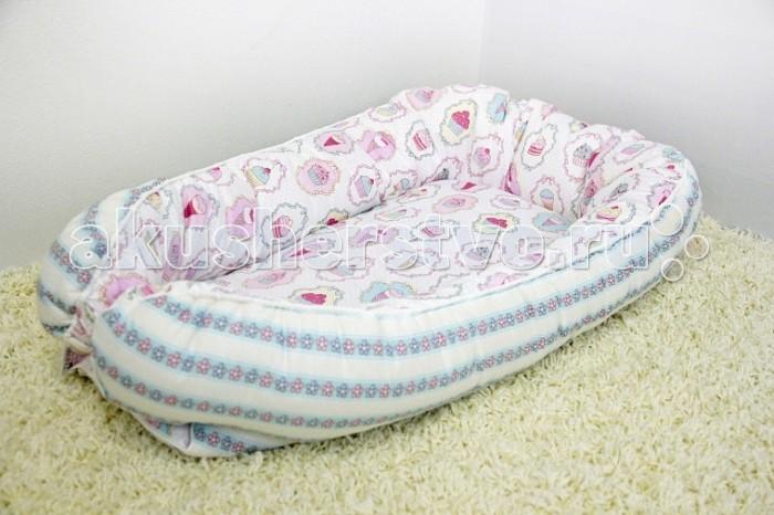 Позиционеры для сна ByTwinz Гнёздышко для малыша Babynest позиционеры для сна candide позиционер с подголовником воздухопроницаемая панда air