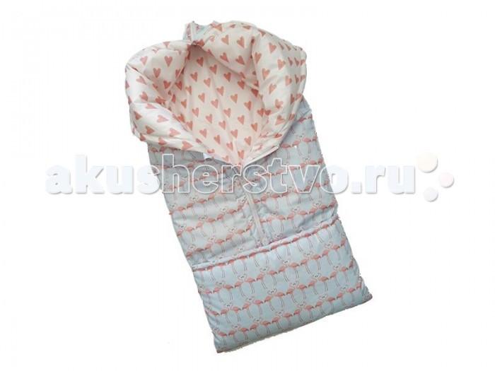 ByTwinz Конверт одеяло-трансформерКонверты-трансформеры<br>ByTwinz Конверт одеяло-трансформер  изготовлен отечественным торговым брендом, выпускающим текстиль и мебель из натуральных материалов для новорожденных и детей. Конверт предназначен для прогулок в прохладную или теплую погоду. Внутренняя часть конверта изготовлена из мягкого и нежного плюша, верхняя часть – из натуральной хлопковой ткани, что позволяет поддерживать оптимально комфортную температуру внутри. Среднюю степень утепления изделию обеспечивает искусственное волокно – холлофайбер, который отличается повышенными гипоаллергенными свойствами.  Особенности: размер одеяла 90 х 85 см застегивается на молниях конверт размером 85 х 35 см выполнен из 100% хлопка и плюша Минки Дот, утеплитель холофайбер.