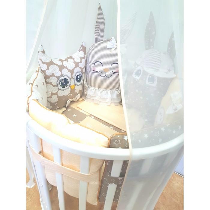 комплекты в кроватку bytwinz слоники 6 предметов Комплекты в кроватку ByTwinz с игрушками Друзья-2 (4 предмета)