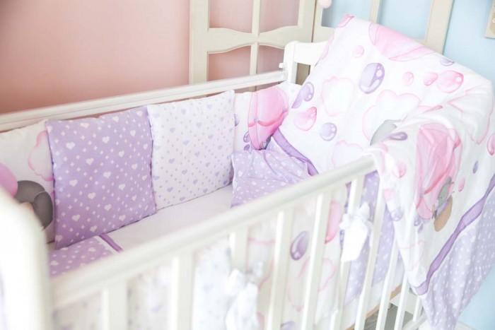 Комплекты в кроватку ByTwinz Сладкий сон (6 предметов) бортики-подушки honeymammy бортики подушки в кроватку clouds