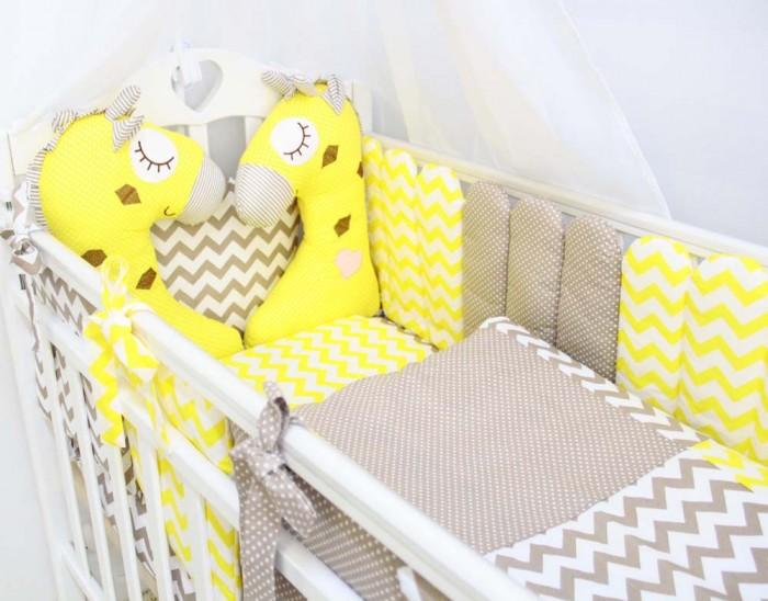 Комплекты в кроватку ByTwinz Жирафики (6 предметов) bytwinz постельное белье тедди 6 пред bytwinz голубой