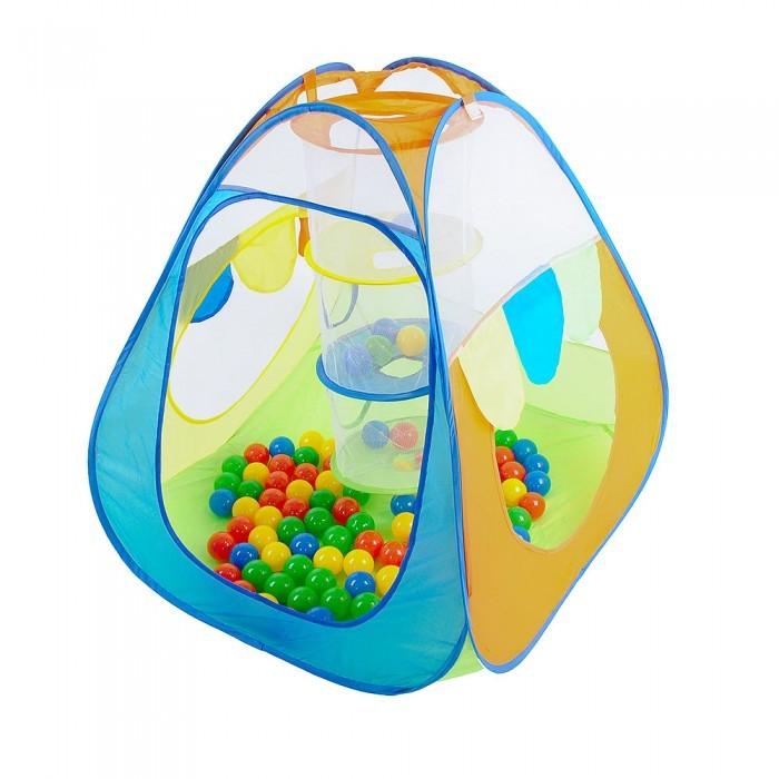 палатка belon радужный домик pink yellow пи 006 тф3 Палатки-домики Calida Палатка-домик с корзиной + 100 шаров Конус