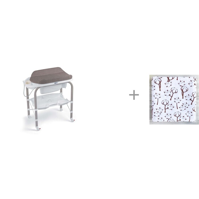 пеленальные столики cam cambio с ванночкой 246 и муслиновая пеленка mjolk basic глазки 110x110 см Пеленальные столики CAM Cambio с ванночкой 246 и муслиновая пеленка Mjolk Хлопок 110x110 см