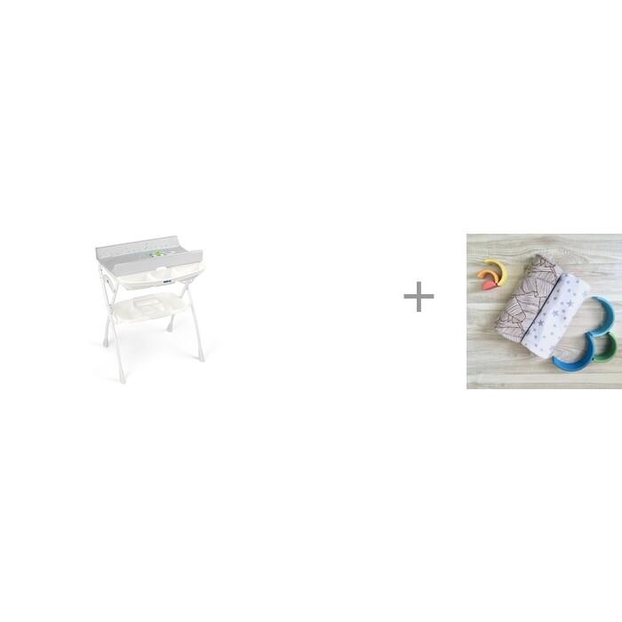 Купить Пеленальные столики, Пеленальный столик CAM Volare с ванночкой 242 и Пеленка Mjolk Palm Tree/Звёзды 80х80 см