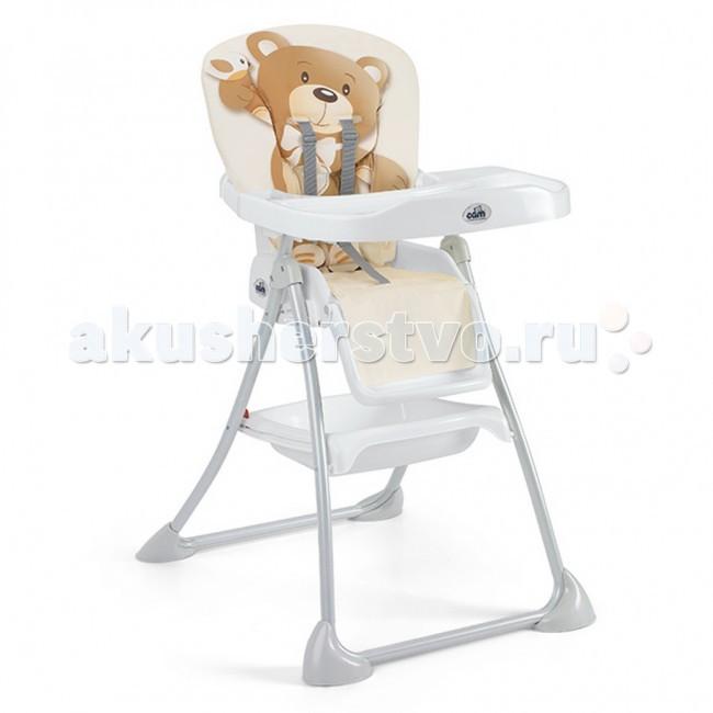 Стульчик для кормления CAM Mini PlusMini PlusСтульчик для кормления CAM Mini Plus   Удобный и практичный стульчик для кормления Cam Mini Plus (Кам Мини Плюс).  Особенности:  регулируемая в 3-х позициях спинка,  регулируемая подставку для ног,   корзина для игрушек,   съемный поднос,   ремни безопасности. Пластиковое сиденье и спинка покрыты плотным мягким моющимся чехлом. Стульчик легко складывается и очень компактный.  Вес: 6,7 кг. Размеры: (ш х гл х в): 62 х 72 х 108 см.<br>