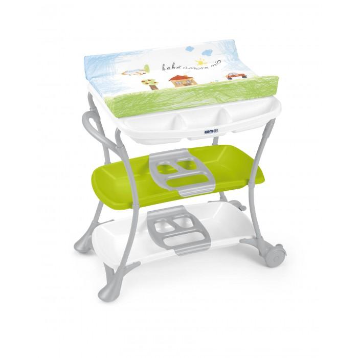 Пеленальный столик CAM Nuvola с ванночкойNuvola с ванночкойПеленальный столик CAM Nuvola с ванночкой от знаменитого итальянского производителя детских товаров CAM обладает уникальным дизайном, в котором с легкостью сочетается классика исполнения с новаторскими элементами.   Столик включает в себя новую ванночку, туалетную полочку, 2 ручки для лёгкой переноски, 2 широкие пластмассовые полочки. Задние колёса с тормозами. Механизм безопасности не даёт пеленальной полочке случайно упасть на голову ребёнка.   Столик соответствует Европейским стандартам безопасности.  Предназначен для детей от 0 до 12 месяцев. Размеры: 97 x 61 x 104h см. Вес: 9.7 кг.<br>