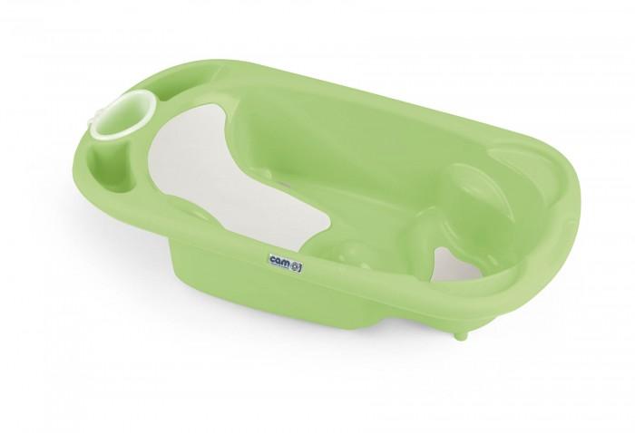 CAM Ванночка Baby BagnoВанночка Baby BagnoВанночка Cam «Baby Bagno» понадобится Вам сразу после рождения малыша и сделает ежедневное купание самой любимой процедурой. Ванночка имеет анатомическую форму, на внутренней поверхности предусмотрено удобное сиденье и подлокотники, полочка для гигиенических принадлежностей и сливное отверстие. Ванночку можно повесить на стену в ванной комнате. Вы также можете приобрести универсальную складную подставку и располагать на ней ванночку во время купания.  Ванночка Cam «Baby Bagno» сделана из прочных безвредных материалов, соответствует европейским гигиеническим стандартам.  Предназначена для детей от 0 до 12 месяцев. Размер: 53 x 96 x 24h см. Вес: 2.3 кг.<br>