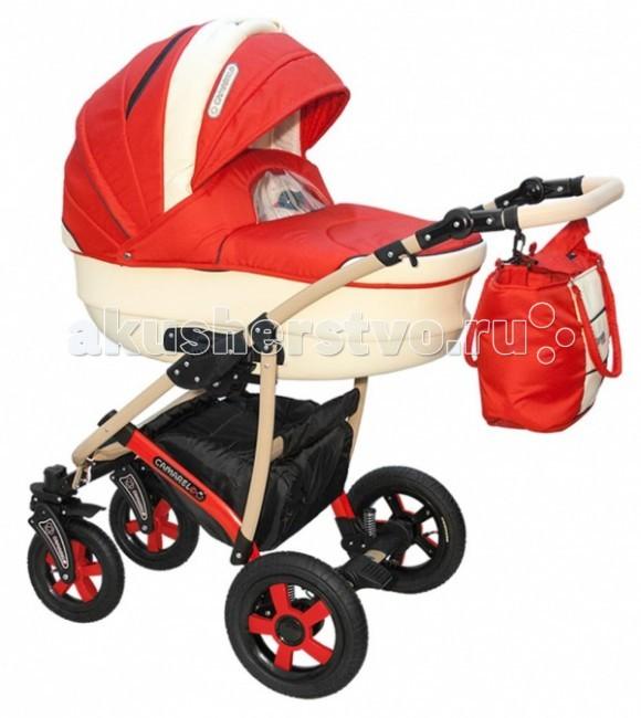 Коляска Camarelo Carmela 2 в 1Carmela 2 в 1Коляска Camarelo Carmela 2 в 1 разработана специально для детей от самого рождения до 3х лет. Модель выполнена из высококачественных современных материалов, отличается стильным внешним видом, надувными колесами и современной конструкцией.  Включает в себя комфортную люльку-переноску для новорожденных и прогулочный модуль для детей в возрасте от полугода. В коляске Camarelo Carmela 2 в 1 объединились все самые удачные детали, необходимые для удобства мамы и малыша при любых погодных условиях.  Люлька: высококачественные современные материалы отличная вентиляция внутри коляски просторная люлька из пластика с регулируемым подголовником возможность установки в двух положениях с противоположным направлением ручка для переноса люльки  съемная подкладка  Прогулочный блок: 3 положения спинки, включая горизонтальное регулируемая по высоте подножка съемный капюшон  Шасси: возможность установки автокресла надежная устойчивая конструкция рамы маневренность и отличная проходимость 5 уровней высоты ручки  внутренние размеры люльки: длина — 85 см, ширина — 37 см ширина сидения: 32 см<br>