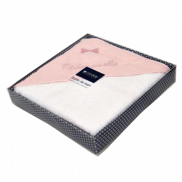 Купание малыша , Полотенца Candide Полотенце с капюшоном Mademoiselle 100x100 арт: 355035 -  Полотенца