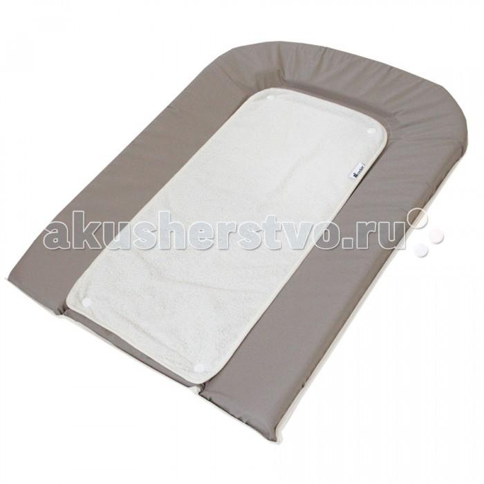 Накладки для пеленания Candide Пеленальный 45х71 см + белое махровое полотенце-пеленка на кнопках матрасы candide дышащий со съемным чехлом 60х120x11 см