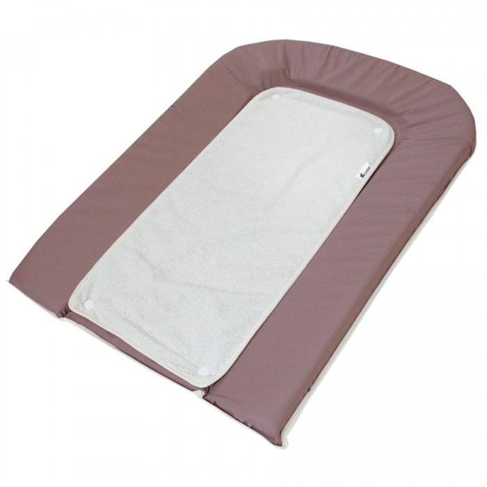 Накладки для пеленания Candide Пеленальный 45х71 см + белое махровое полотенце-пеленка на кнопках полотенца candide полотенце с капюшоном бежевые тона 75х75 см