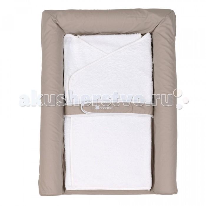Накладки для пеленания Candide Накладка для пеленания с валиками Comfort 70х50 см полотенца candide полотенце с капюшоном бежевые тона 75х75 см