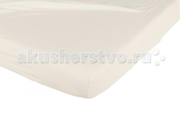 Простыни Candide Простыня Ivory Cotton Fitted sheet 130г/м2 60x120 см позиционеры для сна candide позиционер эргономичный baby wedge 36x23x7 см