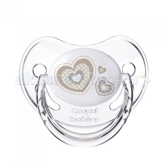Пустышки Canpol круглая силиконовая 0-6 Newborn baby