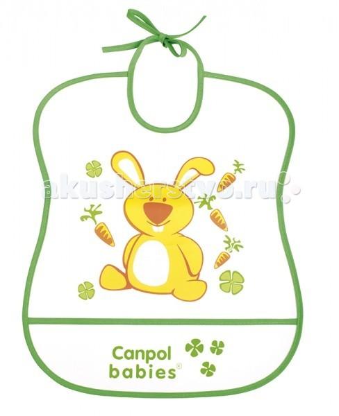 Нагрудники Canpol пластиковый мягкий 2/919 чикко нагрудник пластиковый