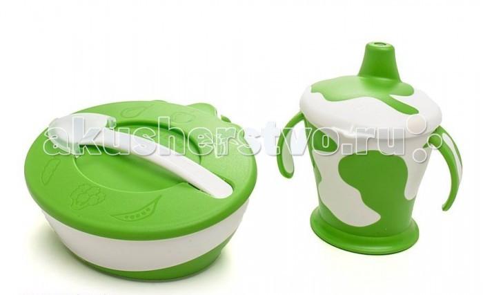 Аксессуары для кормления , Посуда Canpol Набор посуды Коровка арт: 109402 -  Посуда