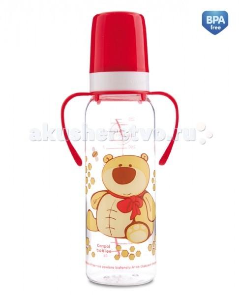 Бутылочки Canpol с ручками Забавные животные 250 мл 11/845 бутылочки canpol тритановая забавные животные 120 мл 11 851