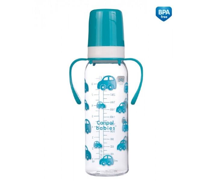 Бутылочки Canpol тритановая с ручками 250 мл 11/815 бутылочки canpol тритановая забавные животные 120 мл 11 851