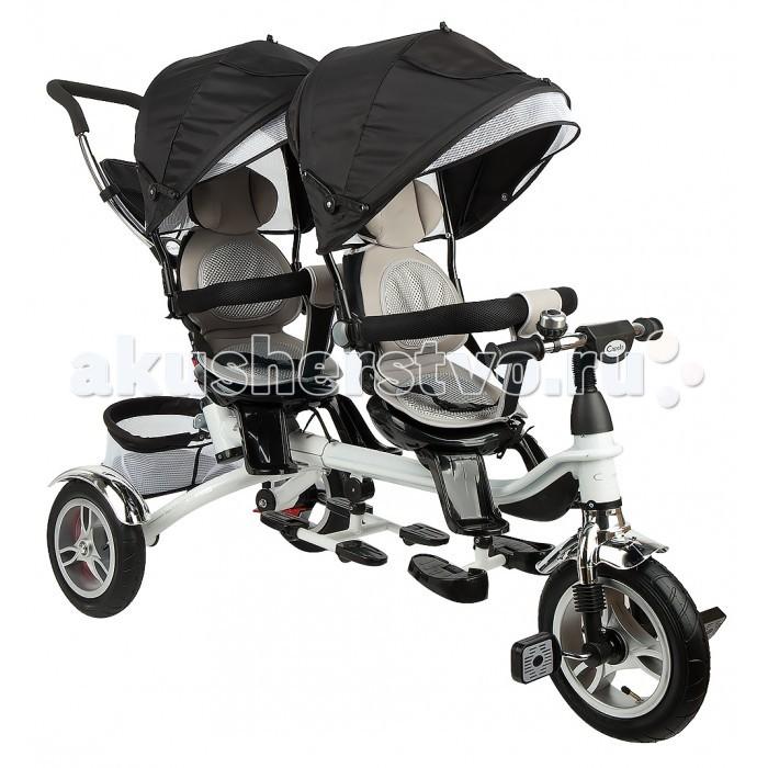 Трехколесные велосипеды Capella для двойни Twin Trike 360