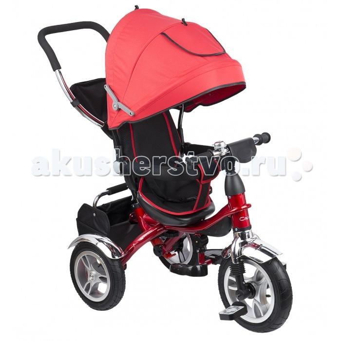 """Велосипед трехколесный Capella Prime Trike ProPrime Trike ProВелосипед трехколесный Capella Prime Trike Pro станет отличной заменой прогулочной коляске.  Особенности: 3-х точечные ремни безопасности удобное, высокое откидное сидение с мягким вкладышем корзина для продуктов родительская ручка бампер для безопасности малыша складной капор от солнца с окошком подножки сумка для родителей широкие надувные колеса 12"""" переднее, 10"""" задние звонок.<br>"""