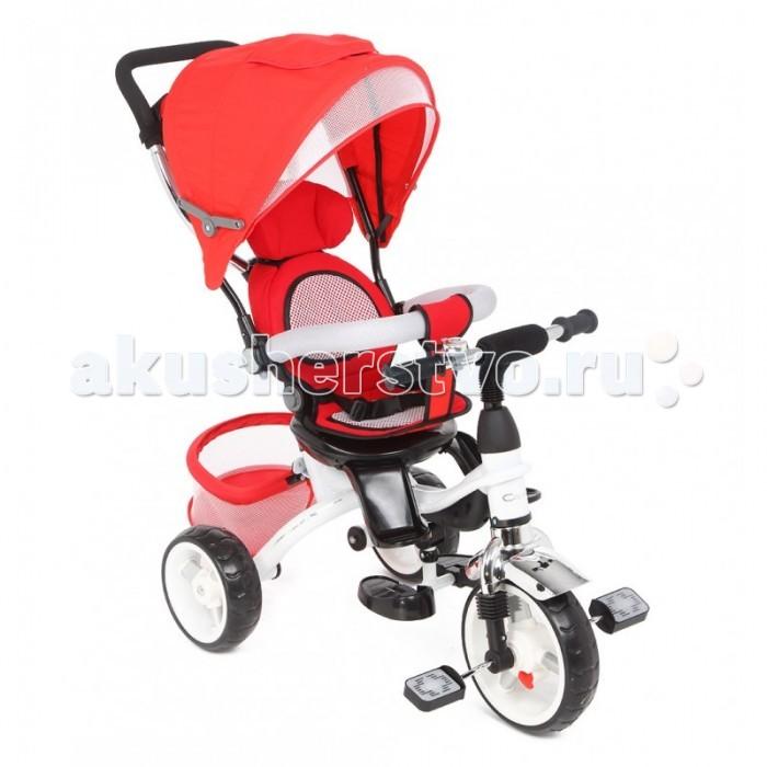Велосипед трехколесный Capella Quest Trike 360Quest Trike 360Велосипед трехколесный Capella Quest Trike 360 станет прекрасным средством передвижения ребенка.   Велосипед создан для прогулок, оснащен ремнями безопасности и удобным сиденьем, в котором ребенок будет чувствовать себя максимально комфортно. Пока ребёнок не научатся самостоятельно кататься на велосипеде, вы сможете совершать с ним прогулки, как в прогулочной коляске.   Малыш будет удобно сидеть, поставив ноги на подножку и пытаться рулить, в то время как мама будет катать его, используя родительскую ручку.<br>