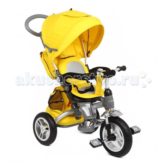 Велосипед трехколесный Capella Twist Trike 360Twist Trike 360Capella Велосипед трёхколёсный Twist Trike 360 - это новый усовершенствованный детский трехколесный велосипед. Модель, благодаря, которой, прогулка для мамы и малыша станет комфортной. У велосипеда реверсивные сидения которые можно устанавливать за и против движения, удобные, высокое сидение с мягким вкладышем. Пока ребёнок не научатся самостоятельно кататься на велосипеде, вы сможете совершать с ним прогулки, как в прогулочной коляске. Малыш будет удобно сидеть, поставив ноги на подножку и пытаться рулить, в то время как мама будет катать его, используя родительскую ручку. Чуть позже, осваивая педали, вы сможете уберечь неопытного велосипедиста от случайного падения во время поворотов.  Capella – один из ведущих мировых брендов на рынке детских товаров. Вся продукция сертифицирована и отвечает самым строгим европейским стандартам.   Особенности: Реверсивное сидение, можно устанавливать по/против движения Удобное,высокое сидение с мягким вкладышем Корзина для продуктов Родительская ручка Бампер для безопасности малыша Складной капор от солнца Подножки Широкие, проходимые надувные колеса  Звонок Удобный и функциональный велосипед  подарит вашему малышу много радости и удовольствия от быстрой и комфортной езды!<br>