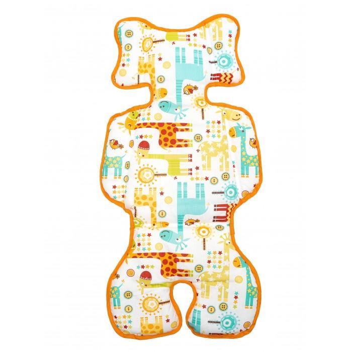 Купить Вкладыши и чехлы для стульчика, Capina Двухсторонний универсальный матрасик Жирафы