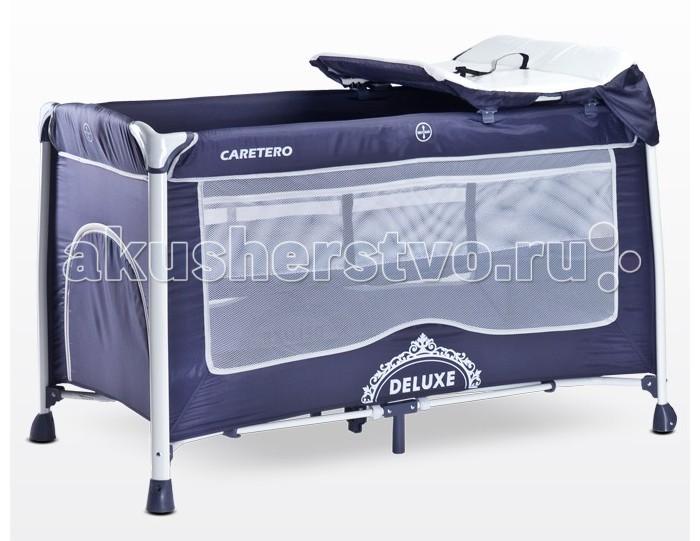 Манежи Caretero Deluxe манеж кровать caretero deluxe navy синий